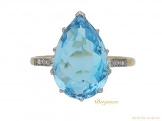 front-view-vintage-aquaremarine-diamond-ring-berganza-hatton-garden