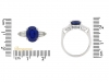size view Natural 'Royal Blue' Burmese sapphire and diamond ring, circa 1950.