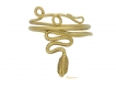 alt='front view Romano Egyptian gold snake ring'