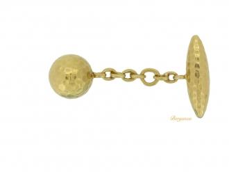 front-view-vintage-gold-cufflinks-berganza-hatton-garden