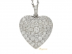 alt='front view Antique diamond heart shape locket, circa 1910.'