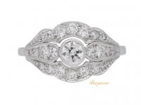 front view Diamond cluster engagement ring, circa 1930.