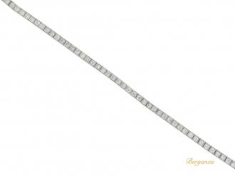 front view Diamond line bracelet, circa 1920.