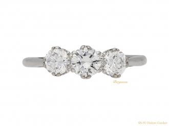 front-view-Antique-diamond-three-stone-ring-berganza-hatton-garden