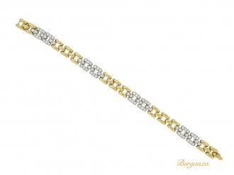 front view Cartier Paris diamond bracelet, French circa 1970s.