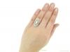 hand-view-Belle-Epoque-diamond-cluster-ring,-circa-1905.-hatton-garden-berganza