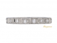 front view Antique diamond set eternity ring, circa 1910.