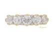 alt='front view Antique diamond five stone ring, circa 1900.'