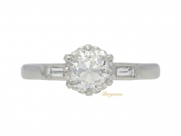 front view Old mine diamond engagement ring, circa 1935.
