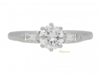 front view Vintage diamond engagement ring, circa 1950.