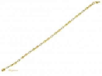 front-view-Cartier-gold-anchor-chain-bracelet-berganza-hatton-garden