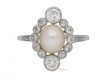 alt='front-view-Antique-pearl-diamond-ring-berganza-hatton-garden'