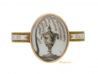 front view Georgian memorial ring, circa 1783.