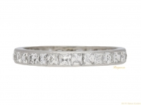 front view Square French cut diamond set eternity ring, circa 1950. berganza hatton garden