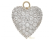 alt='front view Antique heart shape diamond pendant/brooch, circa 1900.'