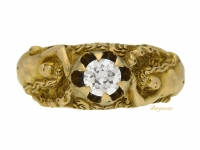 front-view-Art-Nouveau-solitaire-diamond-ring-berganza-hatton-garden