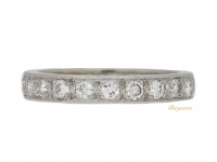 front view Diamond set eternity ring, French, circa 1960.
