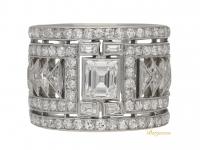 front view Art Deco diamond ring, circa 1925.