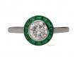 alt='front-view-Diamond-and-emerald-target-ring,-French,-circa-1950.-berganza-hatton-garden'