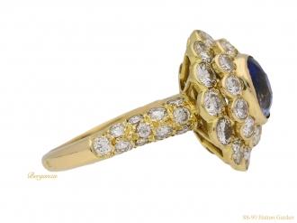front-veiw-Vintage-sapphire-diamond-ring-Mauboussin-berganza-hatton-garden