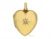 alt='front-view-Antique diamond set heart locket, English, circa 1908. '