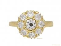 front-view-Diamond-coronet-cluster-ring-circa-1915-berganza-hatton-garden
