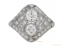front-view-Two-stone-diamond-cluster-ring,-circa-1920.-berganza-hatton-garden