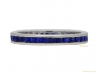 front-view-Sapphire-set-eternity-ring,-circa-1970.-berganza-hatton-garden