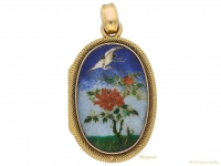 front-view-Enamel-and-Shakudo-locket,-circa-1895-berganza-hatton-garden