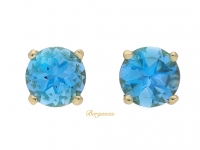 front-view-Aquamarine-stud-earrings,-circa-1980.-berganza-hatton-garden