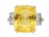 front-view-Yellow-sapphire-and-diamond-ring,-circa-1950.-hatton-garden-berganza