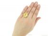 hand-view-Yellow-sapphire-and-diamond-ring,-circa-1950.-hatton-garden-berganza