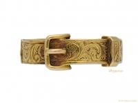 front-view-Early-Victorian-buckle-locket-ring,-circa-1840.-berganza-hatton-garden