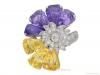 front-view-Yellow-and-purple-sapphire-and-diamond-ring-by-Oscar-Heyman-Bros,-circa-1960-berganza-hatton-garden