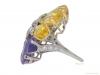 side-view-Yellow-and-purple-sapphire-and-diamond-ring-by-Oscar-Heyman-Bros,-circa-1960-berganza-hatton-garden