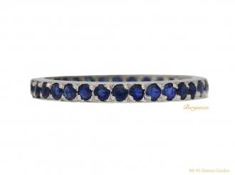 front-view-Vintage-Sapphire-eternity-ring-berganza-hatton-garden