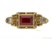 alt='front-view- Renaissance-spinel-and-diamond-ring,-16th-century-AD.-berganza-hatton-garden'