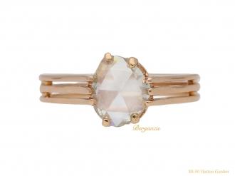 front-view-Antique-diamond- ring-ring-berganza-hatton-garden