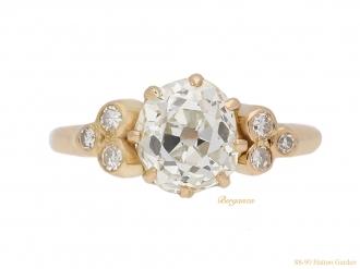 front-veiw-Antique-old-mine-diamond-ring-berganza-hatton-garden