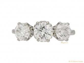 front-view-Antique-diamond-three-stone-ring-hatton-garden-berganza