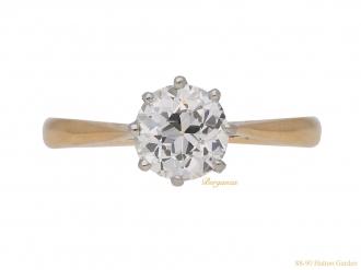front-view-antique-engagement-diamond-ring-berganza-hatton-garden