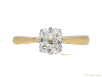 front-veiw-antique-engagement-diamond-ring-berganza-hatton-garden