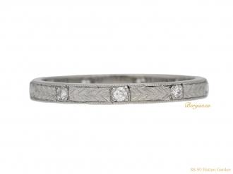 front-view-vintage-Diamond-eternity-ring-berganza-hatton-garden
