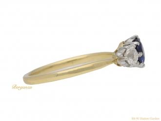 front-view-antique-diamond-sapphire-ring-berganza-hatton-garden