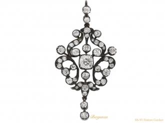 front-view-antique-diamond-pendant-brooch-berganza-hatton-garden