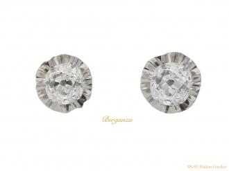 front-view-art-deco-diamond-stud-earrings-hatton-garden-berganza