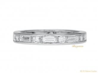 front-view-vintage-Diamond-eternity-ring-Oscar-Heyman-berganza-hatton-garden