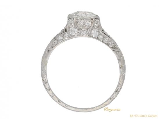 back-view-antique-diamond-set-engagament-ring-berganza-hatton-garden