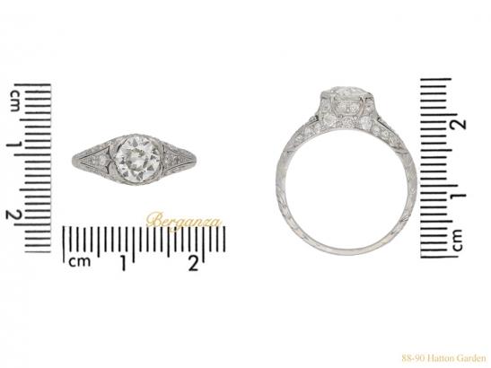 size-view-antique-diamond-set-engagament-ring-berganza-hatton-garden