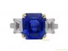 front-view-Vintage-sapphire-diamond-ring-berganza-hatton-garden